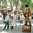 A busy plaza in Barcelona Photo: Gili Sofer
