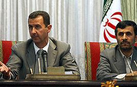Syrian President Bashar Assad and Iranian President Mahmoud Ahmadinejad (Photo: AFP)