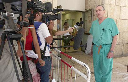 ריבקינד בבית החולים (צילום: גיל יוחנן)