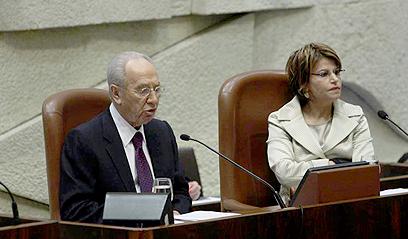 """איציק כיו""""ר הכנסת לצד נשיא המדינה (צילום: גיל יוחנן)"""