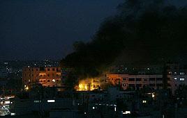Strike Thursday night in Gaza (Photo: AFP)