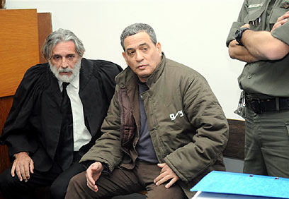 מנבר בדיון בבית המשפט לפני שנתיים (צילום: ירון ברנר)