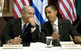 Netanyahu with Obama (Photo: AFP)