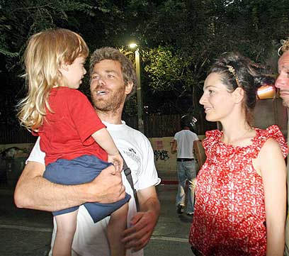 Ayelet Zurer with cool, Husband Gilad Londovski
