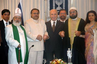 The American Jewish Committee's Rabbi David Rosen (seated, second from right) in India in February 2007.