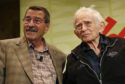 """גראס (משמאל) עם נורמן מיילר. """"הצהרות נבערות ומבישות"""" (צילום: איי פי)"""
