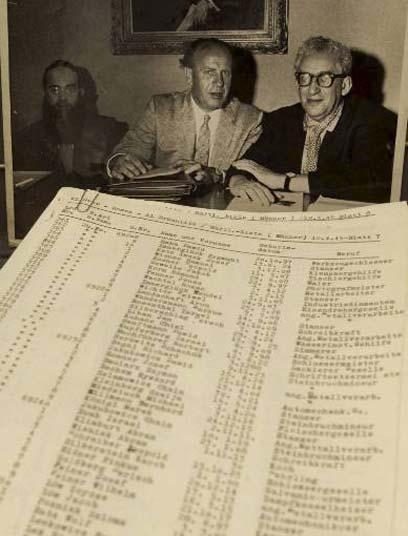 אוסקר שינדלר והרשימות (צילום ארכיון)