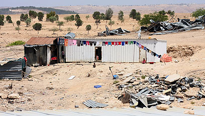 Bedouin settlement in the Negev (Photo: Roee Idan)