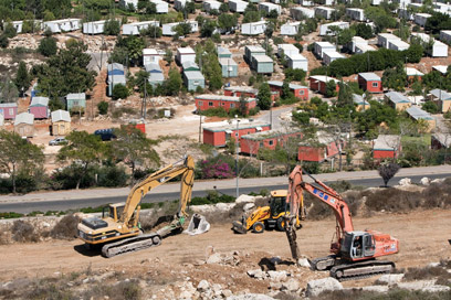 Construction in West Bank (Photo: AFP)
