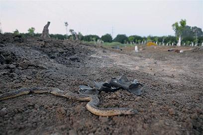 Rocket site outside Ashdod (Photo: Avi Rokach)