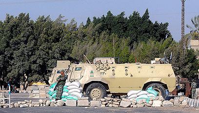 עמדת צבא מצרים בחצי האי סיני (צילום: EPA)