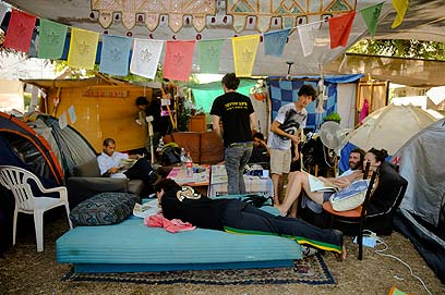 What's next? Tel Aviv's tent city post mass rally (Photo: Yaron Brener)