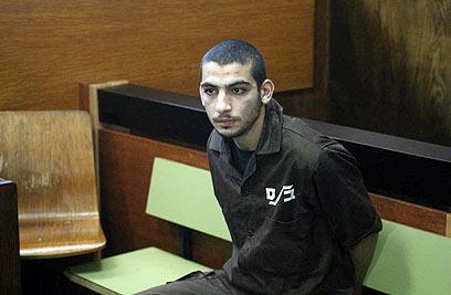 הנאשם מוחמד צופאן בבית המשפט (צילום: מוטי קמחי)