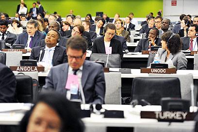 הכיסא הטורקי מיותם בכינוס שבו דיבר איילון (צילום: שחר עזרן)