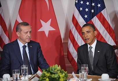 אובמה וארדואן בניו יורק. יחסים לא חדשים (צילום: AFP)