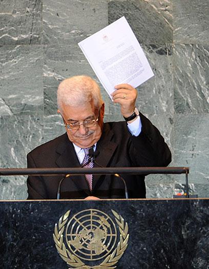 """אבו מאזן בעצרת האו""""ם הקודמת (צילום: EPA)"""