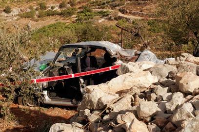 זירת הפיגוע בספטמבר 2011 (צילום: אליעד לוי)