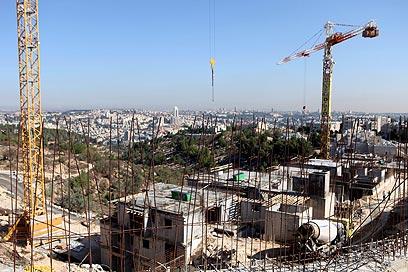 """בנייה בהתנחלויות. """"ישראל לא הסכימה להקפאה"""" (צילום: EPA)"""