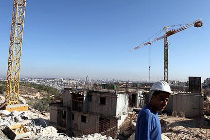 הבנייה בהתנחלויות. הפלסטינים דורשים הכל או כלום (צילום: EPA)