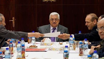 """ישיבת הוועד הפועל של אש""""ף ברמאללה (צילום: EPA)"""