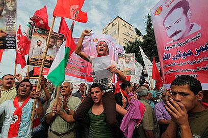 חגיגות בעזה לרגל שחרור האסירים (צילום: רויטרס)