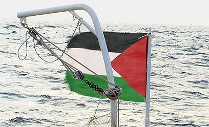 הכתב האיראני צילם: דגל פלסטין מונף על הספינה