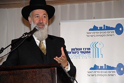 הרב מצגר. טרם הוחלט אם להאריך את מעצרו (צילום: לימור קראדי)