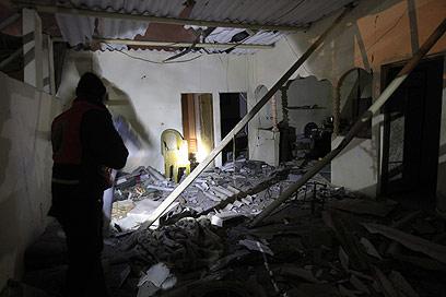 ההרס בעזה, הלילה (צילום: AFP)