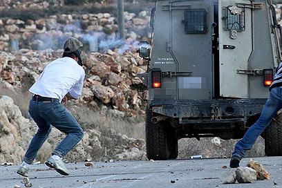 התמונה שפרסמו הפלסטינים, ושמתעדת לטענתם את הירי בתמימי (צילום: חיים שוורצנברג)
