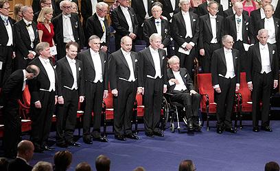 חתני פרס נובל 2011, תמונת מחזור (צילום: רויטרס)