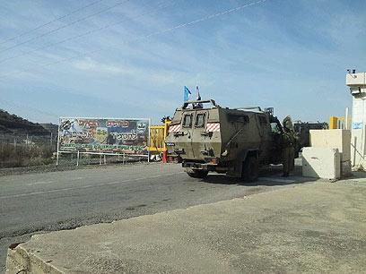 """בבסיס חטיבת אפרים. """"עשרות תקפו"""" (צילום: יואב זיתון)"""