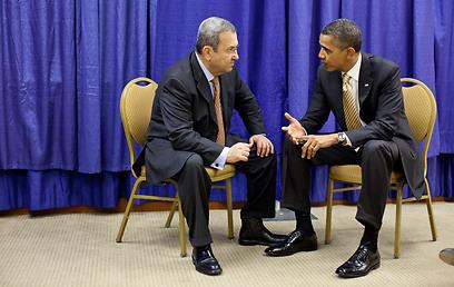 איש המפתח האמריקני ואיש המפתח הישראלי. אובמה וברק (צילום: הבית הלבן)