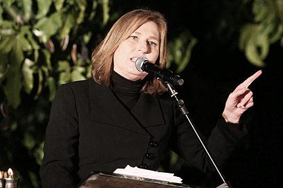 """יו""""ר המפלגה הגדולה בישראל, אחת הנשים החזקות. לבני (צילום: גיל יוחנן)"""