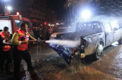 """תקיפת צה""""ל בעזה. הרוג ושני פצועים (צילום: AFP)"""