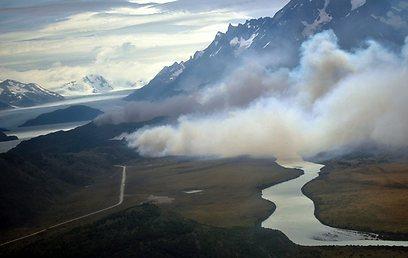 דליקה בפארק, לפני שנה (צילום: EPA)