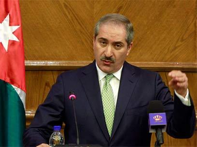 שר החוץ הפלסטיני נאסר ג'ודה, אחרי הפגישה (צילום: EPA)