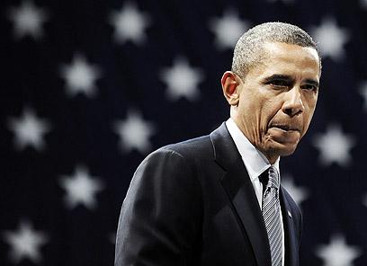 אובמה בכנס בחירות בשיקגו. לביקורת אין בסיס (צילום: AFP)