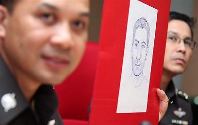 קלסתרון של החשוד בתאילנד (צילום: EPA)