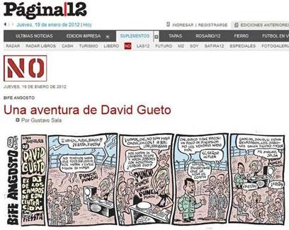 """""""ההרפתקאות של דויד גואטו"""" מתוך העיתון """"פחינה 12"""""""