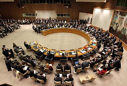 """""""קוראים להפסקת אש מיידית"""". מועצת הביטחון של האו""""ם (צילום: AP)"""