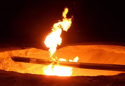 פיצוץ צינור הגז. 13 פעמים השנה (צילום: רויטרס)