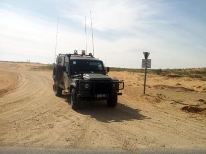 """כוח צה""""ל סמוך לגבול מצרים (צילום:  יואב זיתון)"""