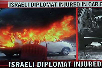 הפיגוע בניו דלהי, אשתקד (צילום: AFP PHOTO/NDTV)