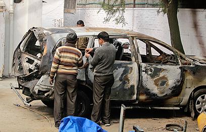 פיצוץ נגד אשת דיפלומט ישראלי בהודו אשתקד (צילום: AP)