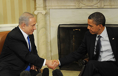 """אובמה ונתניהו בבית הלבן (צילום: עמוס בן גרשום, לע""""מ)"""