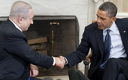 """אובמה ונתניהו בבית הלבן. """"הביקור - מסר לכל המדינות"""" (צילום: AFP)"""