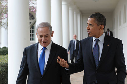 Netanyahu, Obama at White House (Archive photo: Amos Ben-Gershom, GPO)