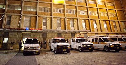 בית החולים הדסה עין כרם, לשם פונה החייל (צילום: אוהד צויגנברג)