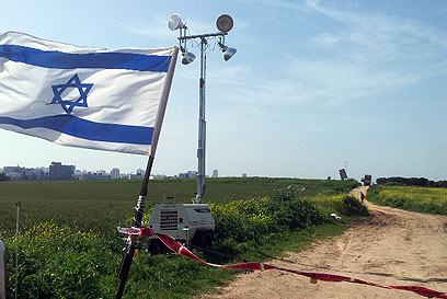 """סוללת """"כיפת ברזל"""" באזור הדרום (צילום: יואב זיתון)"""