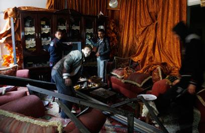Gaza house damaged in IAF strike (Photo: AP)